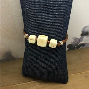 Jewelry - Block Howlite/sand stone bracelet